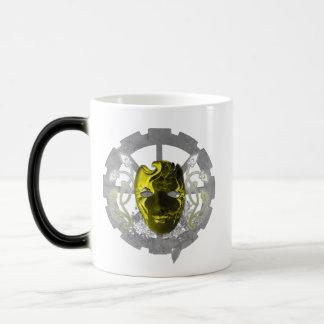 Cracked Masquerade 11 Oz Magic Heat Color-Changing Coffee Mug
