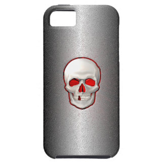 Cracked Metal - 3D Glowing Skull Inlay iPhone SE/5/5s Case