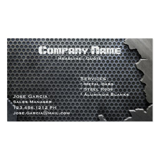 Cracked Metal Double Sided Standard Business Cards Pack