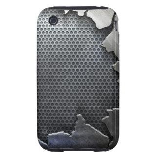 Cracked Metal Tough iPhone 3 Case