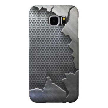 Cracked Metal Samsung Galaxy S6 Cases