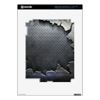 Cracked Metal skins iPad 3 Skin