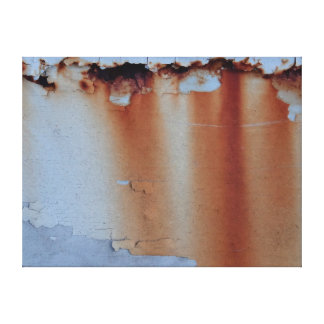 Cracked Metal with Rust Stains Wrapped Canvas
