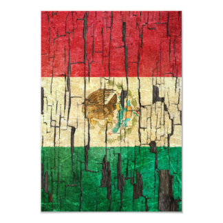 Cracked Mexican Flag Peeling Paint Effect Card