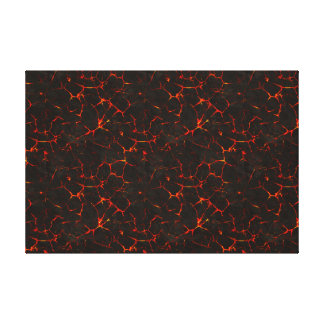 Cracked Molten Ground Rock Volcano Lava Stretched Canvas Prints