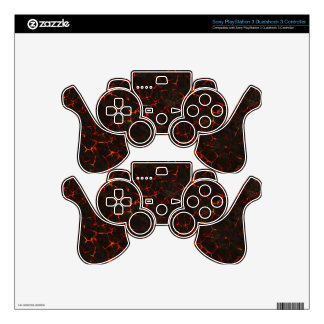 Cracked Molten Ground Rock Volcano Lava Decal For PS3 Controller