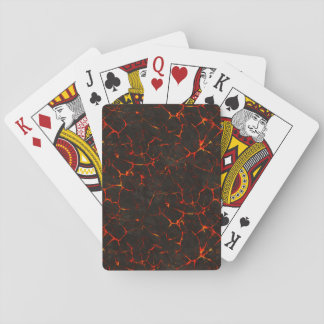 Cracked Molten Ground Rock Volcano Lava Poker Cards