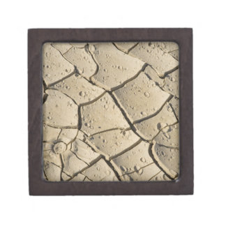 Cracked Mud formation in the Valley floor of 2 Premium Keepsake Boxes