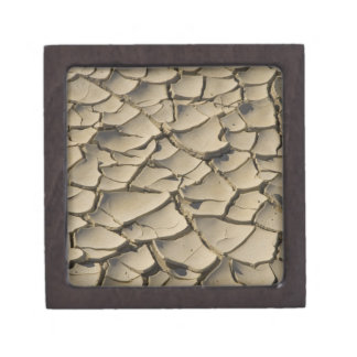 Cracked Mud formation in the Valley floor of Premium Keepsake Boxes