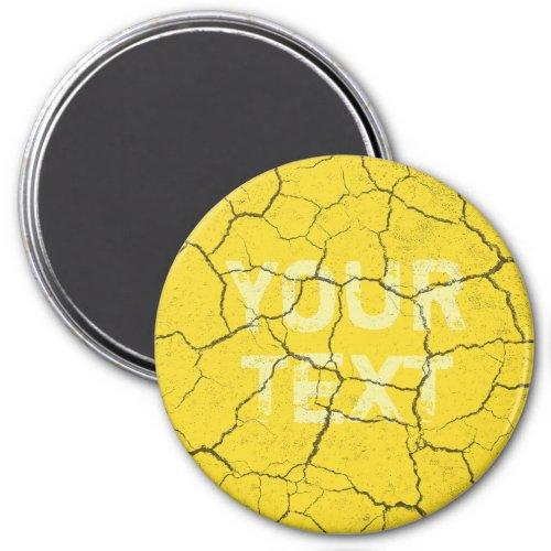 Cracked Mustard Yellow Vintage Kitchen  Magnet