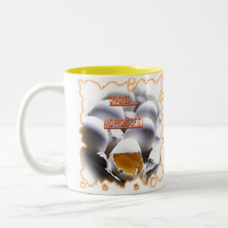 CRACKED N PROUD OF IT Two-Tone COFFEE MUG