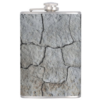 Cracked natural earth grey abstract background flask