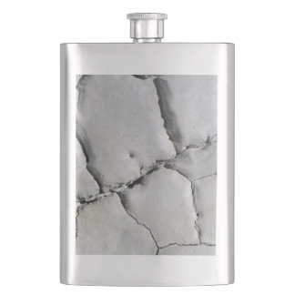 Cracked natural earth grey dirt abstract texture flask