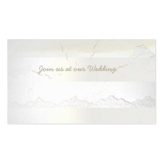 Cracked Paint Linen Wedding White Business Cards