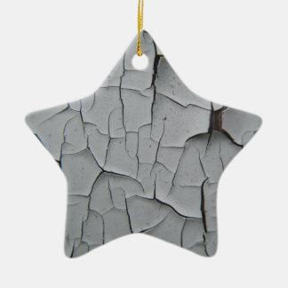 Cracked Paint Ceramic Star Decoration