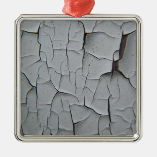 Cracked Paint Silver-Colored Square Decoration