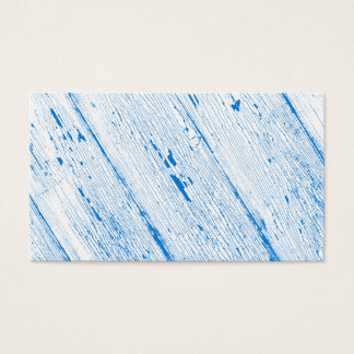 Cracked Paint Pattern Blue And White Business Card