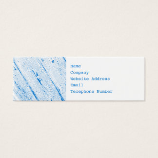 Cracked Paint Pattern Blue And White Mini Business Card