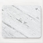 Cracked Paint Pattern Gray And White Mouse Pad