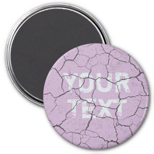 Cracked Pale Lavender Purple  Kitchen  Magnet