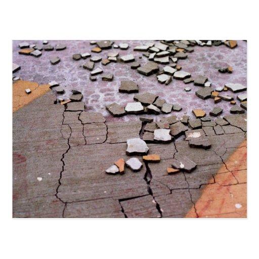Cracked pavement postcard