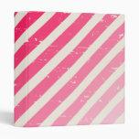 Cracked Pink Ombre Stripes Binder