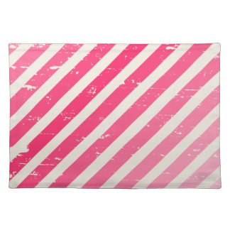 Cracked Pink Ombre Stripes Place mat Cloth Place Mat