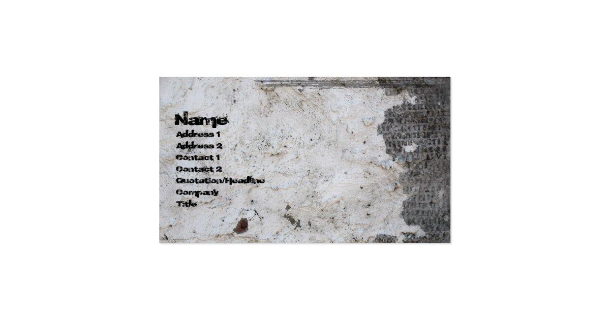 Cracked Plaster Gothic Grunge Business Card