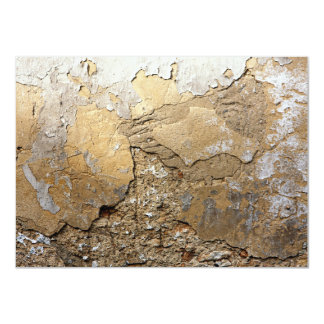 Cracked plastered wall. card