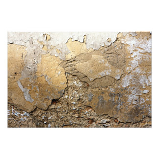 Cracked plastered wall. photographic print