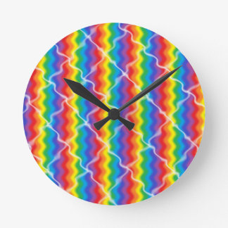 Cracked Rainbow Clock