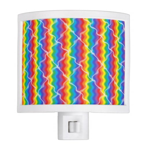 Cracked Rainbow Night Light Zazzle