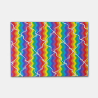 Cracked Rainbow Post-it Notes