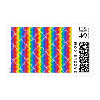 Cracked Rainbow Postage Stamps