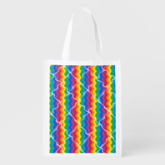 Cracked Rainbow Reusable Grocery Bag