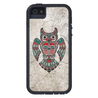 Cracked Red and Black Haida Spirit Owl iPhone 5 Case