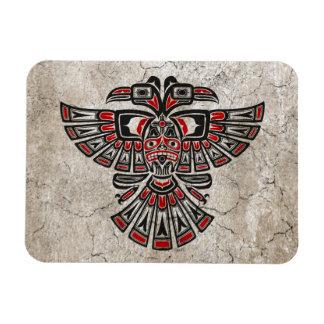 Cracked Red Haida Two Headed Spirit Bird Magnet