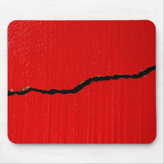 Cracked Red Paint Mouse Pad