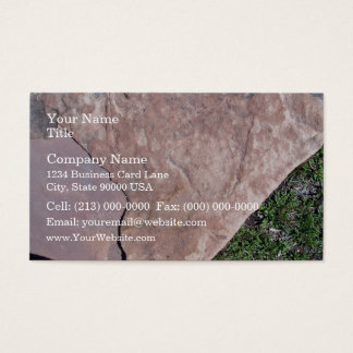 Cracked Red Rock In Green Landscape Business Card