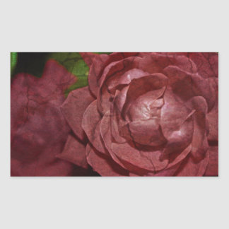 Cracked Red Rose by Shirley Taylor Rectangular Sticker