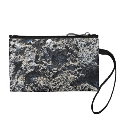 Cracked Rock Cliff Texture Coin Wallet