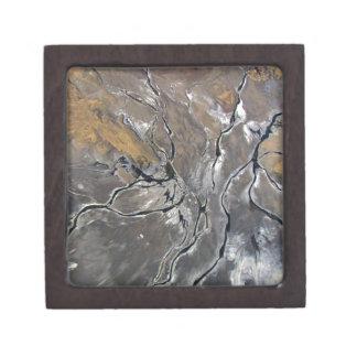 CRACKED SALT LAKE PHOTOGRAPHY modern art Keepsake Box