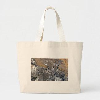 CRACKED SALT LAKE PHOTOGRAPHY modern art Large Tote Bag