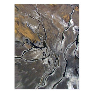 CRACKED SALT LAKE PHOTOGRAPHY modern art Postcard