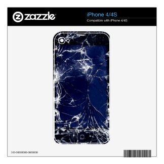 Cracked screen skin for iPhone 4