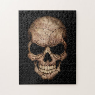 Cracked Skull Emerging From Darkness Puzzles