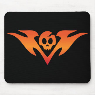 Cracked Skull & Flames Tatoo Mouse Pad