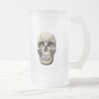 Cracked Skull Frosted Glass Beer Mug