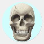 Cracked Skull Round Stickers