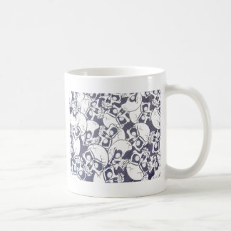 cracked skulls coffee mug